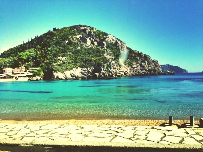 Corfu island sea