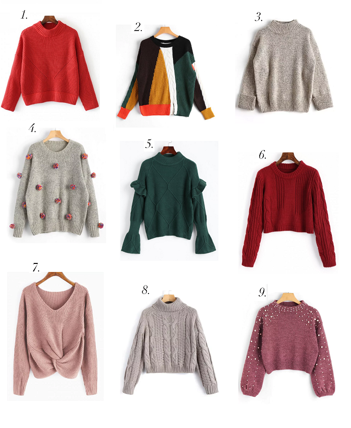 zaful wishlist sweaters