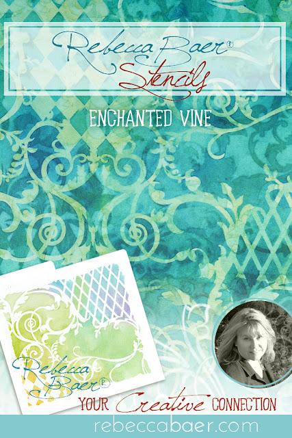 Enchanted Vine Stencil | RebeccaBaer.com