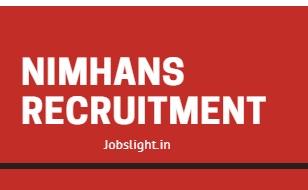 NIMHANS Recruitment 2017