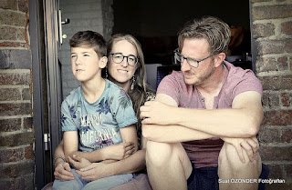 My daughter with son and my son.