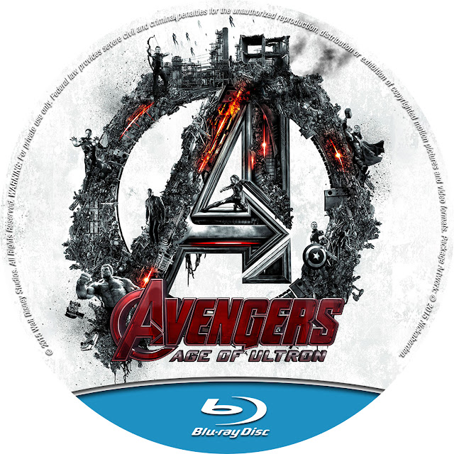 Avengers Age Of Ultron Bluray Label