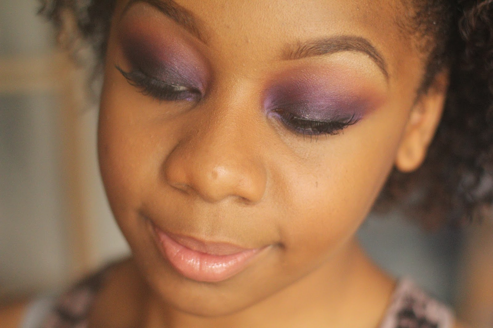 Smoked out purple eye make up look 2