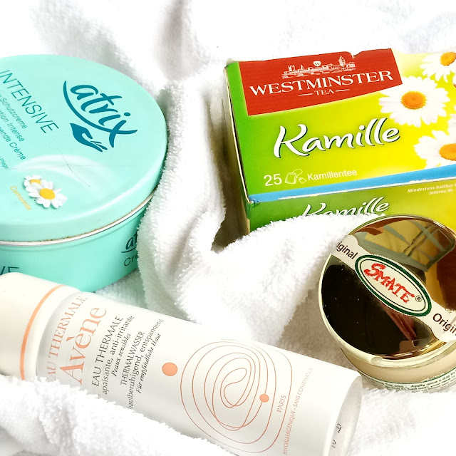 How to Relax & Spa at Home on the Weekend, kamille tea, eau thermique, thermal water