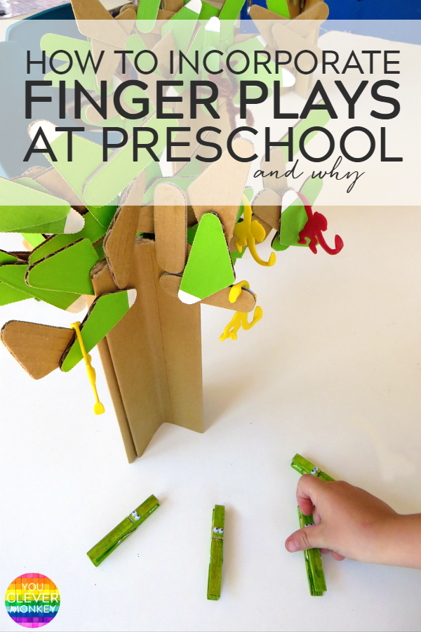 How to Incorporate Finger Plays at Preschool and Why - the educational benefits to including finger plays in your pre-k program along with a collection of finger plays and action songs perfect for any early childhood classroom | you clever monkey