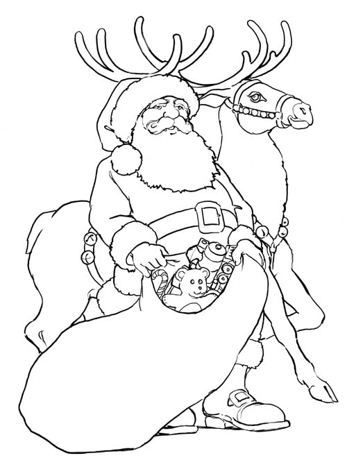 14 picture of coloring pages santa gt gt disney coloring pages
