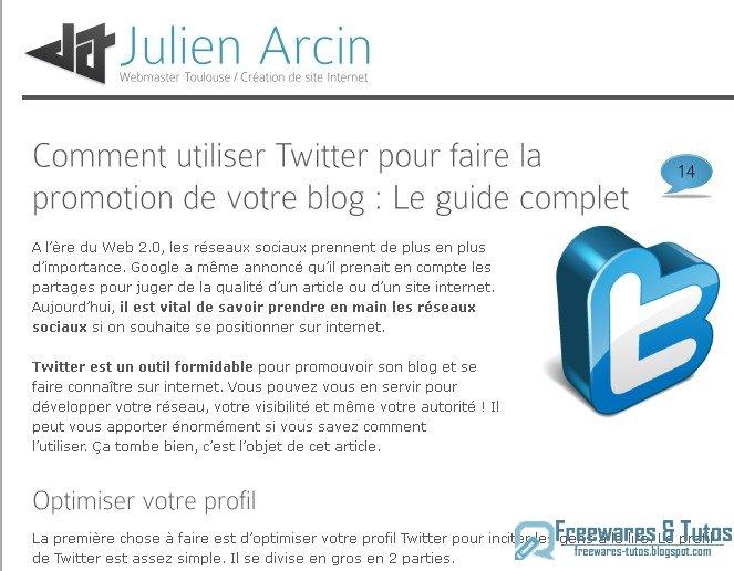 Le site du jour comment utiliser twitter pour faire la promotion de votre b - Comment utiliser une tyrolienne a crepi ...
