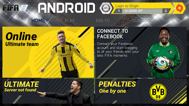 FIFA 14 fully updated for FIFA 2018 for Android 1 GB size