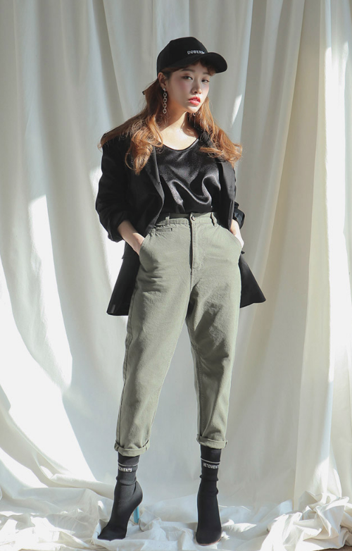 Tapered High-Rise Pants