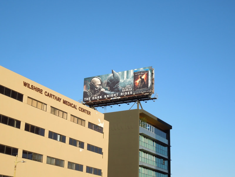 Dark Knight Rises Blu-ray billboard