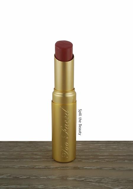 too faced la creme lipstick cinnamon kiss swatch comparison dupe