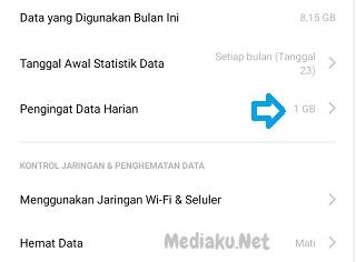 Mengatur Penggunaan Data Internet Di HP Realme 5i