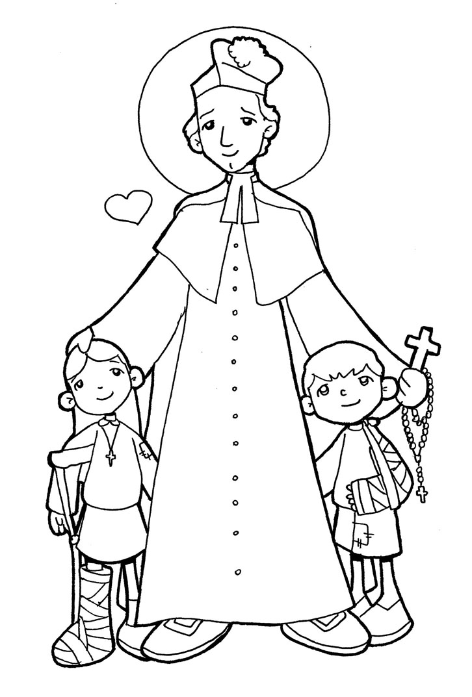 Dibujos para catequesis: SAN JOSÉ BENITO COTTOLENGO