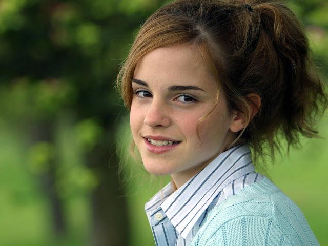 Smiling Emma Watson
