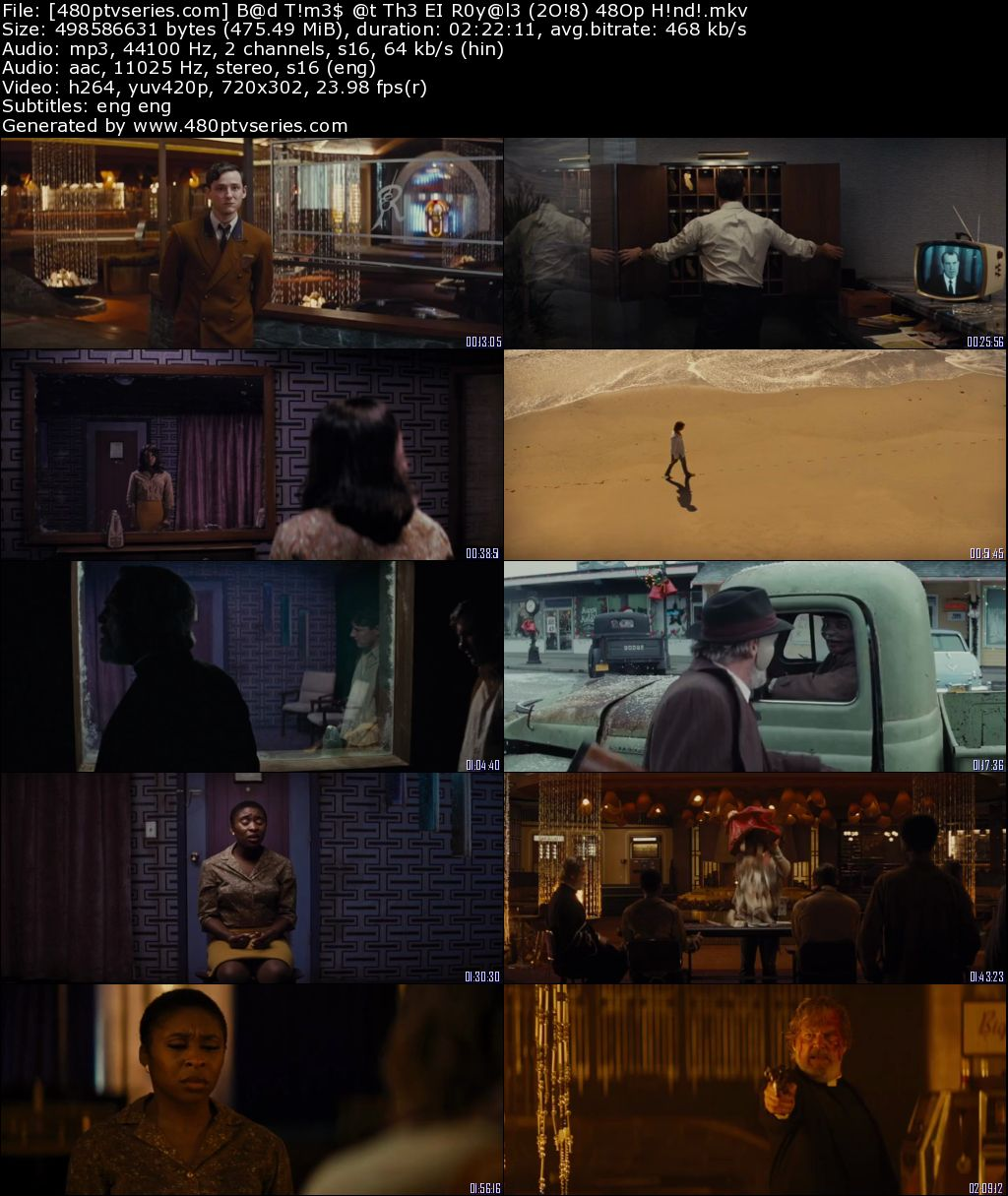 Bad Times at the El Royale (2018) 450Mb Full Hindi Dual Audio Movie Download 480p Bluray Free Watch Online Full Movie Download Worldfree4u 9xmovies