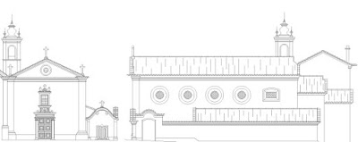 Alçado (Church Elevation) da Igreja de São Francisco, Castelo de Vide, Portugal