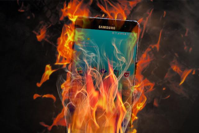Imagem Samsung Galaxy Note 9 pegou fogo
