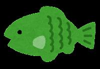 小魚のイラスト(緑)