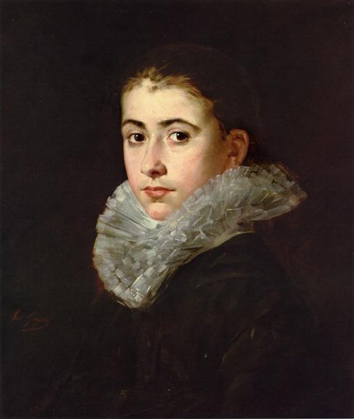 Eva Gonzalès - Портрет молодой женщины