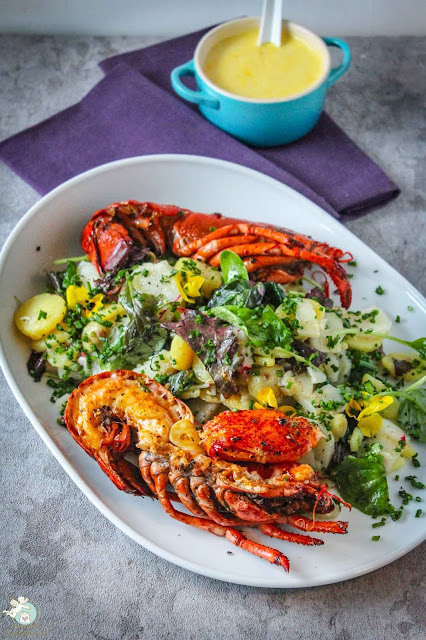 High Pressure Lobster mit Salat und Safran-Mayonnaise