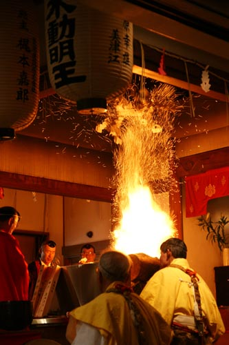 Setsubun Yakuyoke Daihoue (end-of-winter grand apotropaic ceremony) at Abiko-Kannon, Osaka