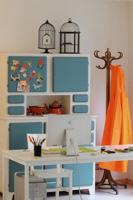 Crea vintage mueble de cocina de los a os 60 - Muebles de cocina retro ...