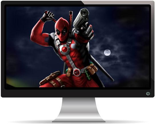 Deadpool Pistolet Artwork - Fond d'Écran en Quad HD 1440p
