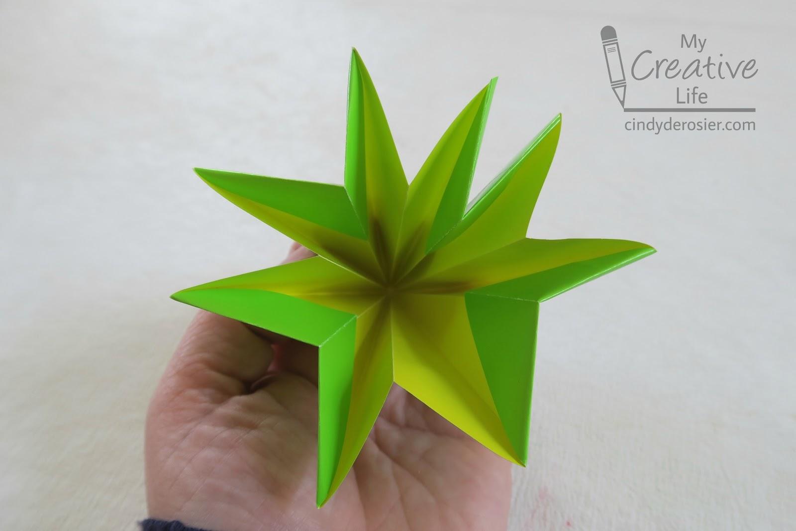 Cindy Derosier My Creative Life Origami Christmas Trees