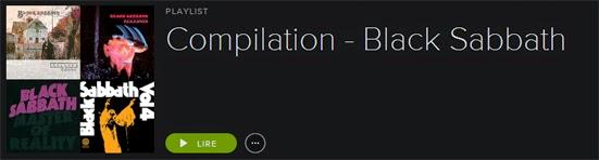 Best of Black Sabbath Spotify Playlist