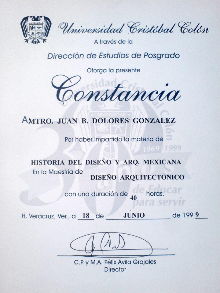 Juan bernardo dolores gonz lez hf cidi for Maestria en interiorismo arquitectonico