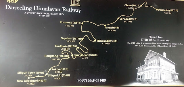DARJEELING TOY RAIN ROUTE MAP