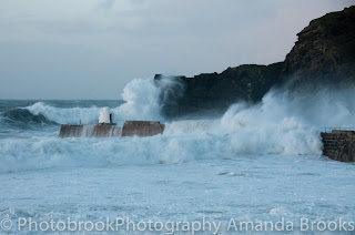 Giant swell in Cornwall