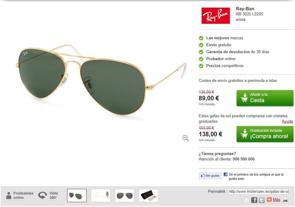 aee7bb9403 Están disponibles los últimos modelos de las diferentes marcas, tanto de  gafas de sol como de graduadas, además, también te dan la opción de  graduarte ...
