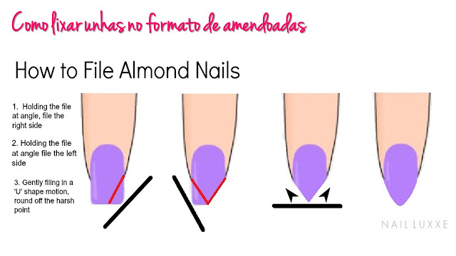 unhas amendoadas, unhas redondas, almond nails