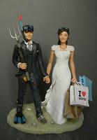 torta sposini sposa borse shopping sub cake topper originali orme magiche