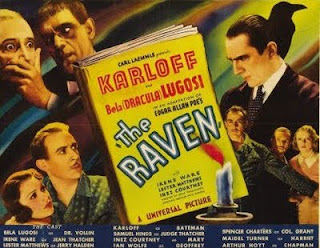 Poe, Lugosi y Karloff en The Raven