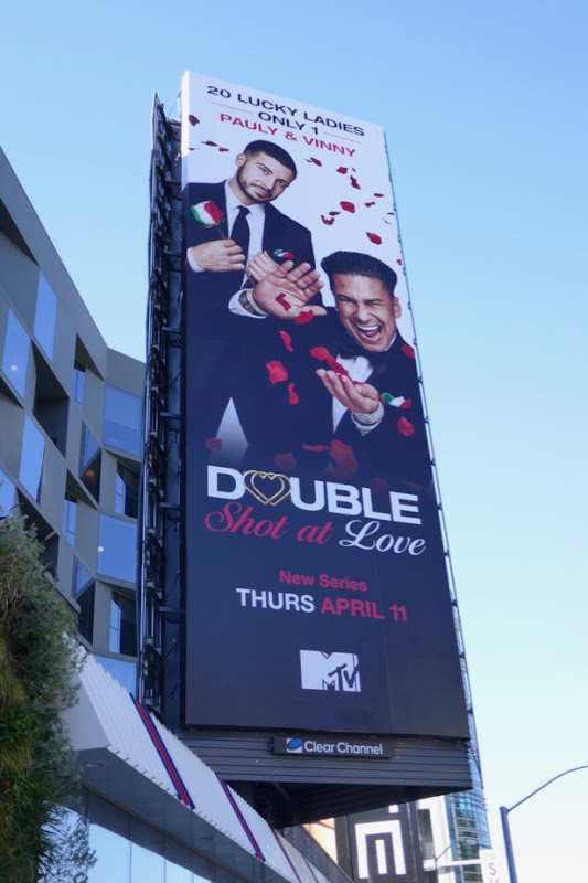 Pauly Vinny Double Shot at Love series billboard