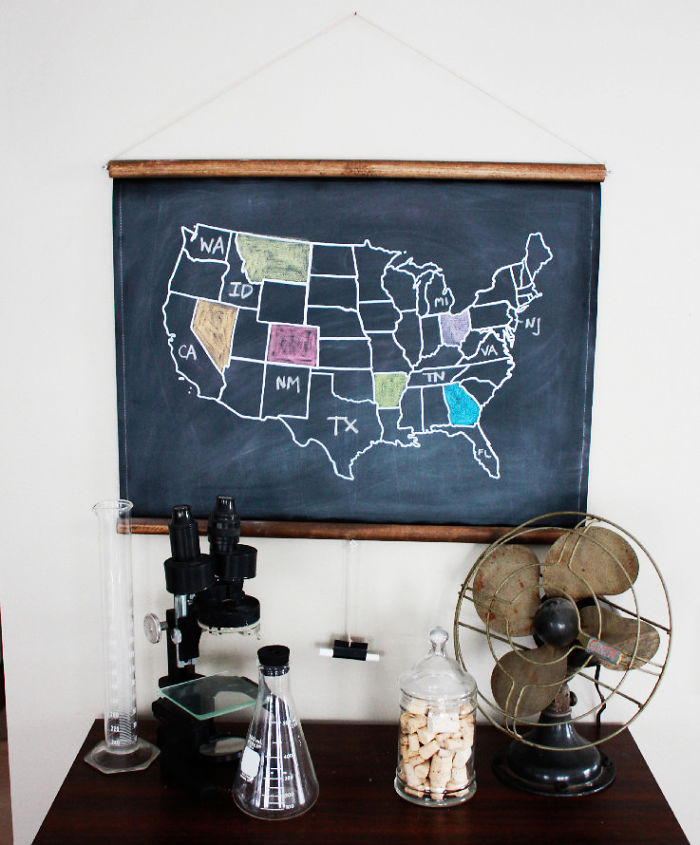 15+ Of The Best Traveler Gift Ideas Besides Actual Plane Tickets - Chalkboard Color Inn Map Of The Usa