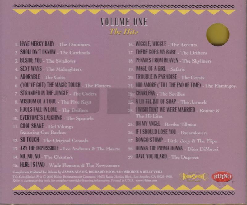 ENTRE MUSICA: THE DOO WOP - Box 3 Varios artistas (4 CDs)