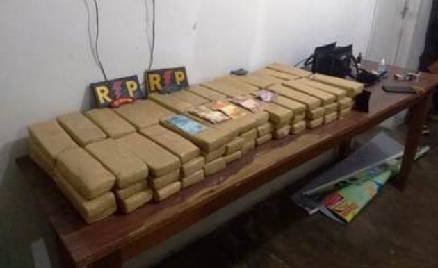 Mais de 40 quilos de maconha é aprendida em Santana do Ipanema pela  Radiopatrulha do 7º BPM apreende