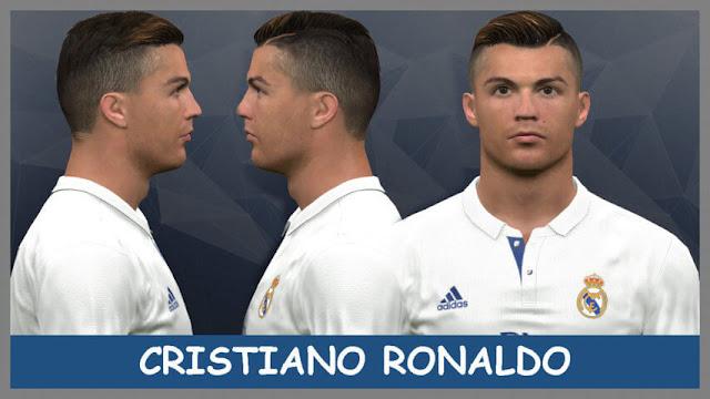 Cristiano Ronaldo Face Hair Real Madrid PES - Download hair cristiano ronaldo pes 2013