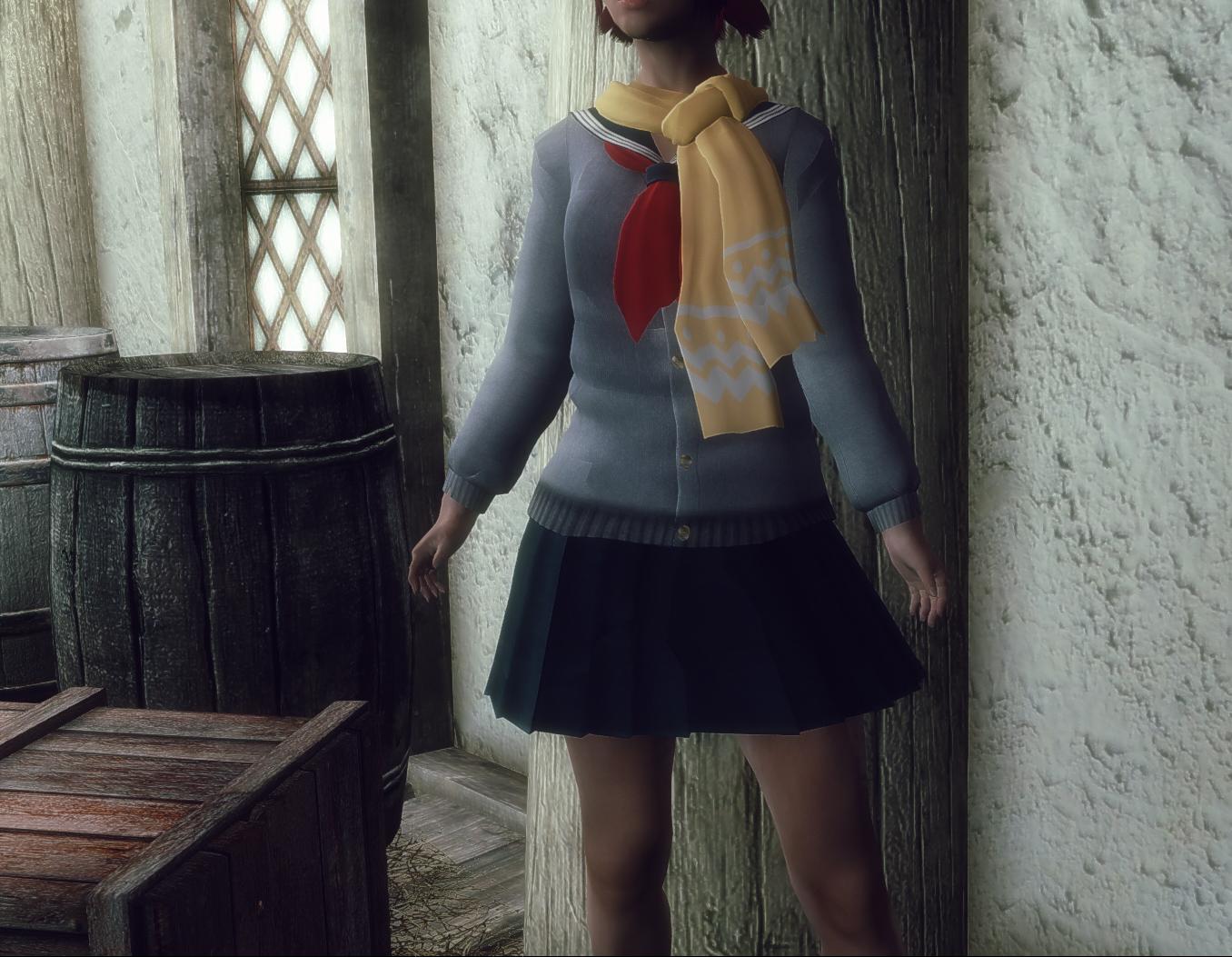 kasumi school sweater skyrim shippin mods and goodies