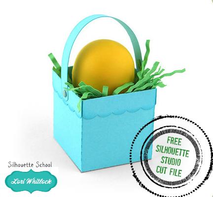 Silhouette Studio, cut file, free cut file, Lori Whitlock, easter basket
