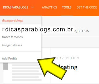 varios blogs ou sites no addthis
