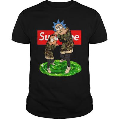Rick and Morty Supreme T Shirt Hoodie Jacket and Crewneck Sweatshirt Sunfrogshirts