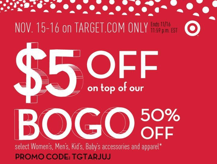 Target $5 off 50