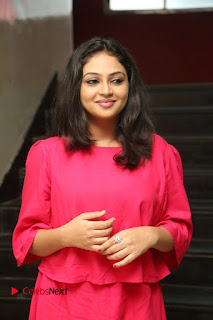 Actress Arundathi Nair Stills in Red Chididar at Bethaludu Success Meet  0037.JPG
