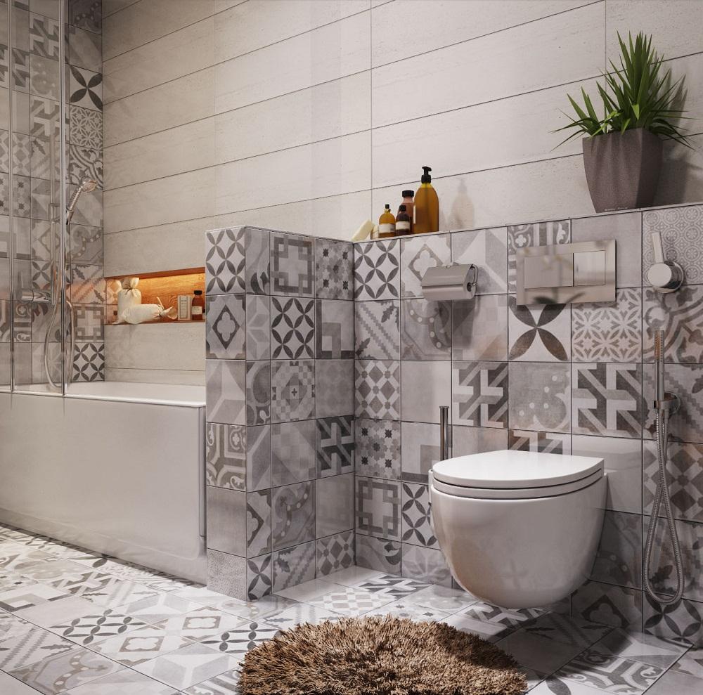 TRANG TRÍ NHÀ HIỆN ĐẠI: Các tiêu chí để chọn gạch bông cho nhà tắm