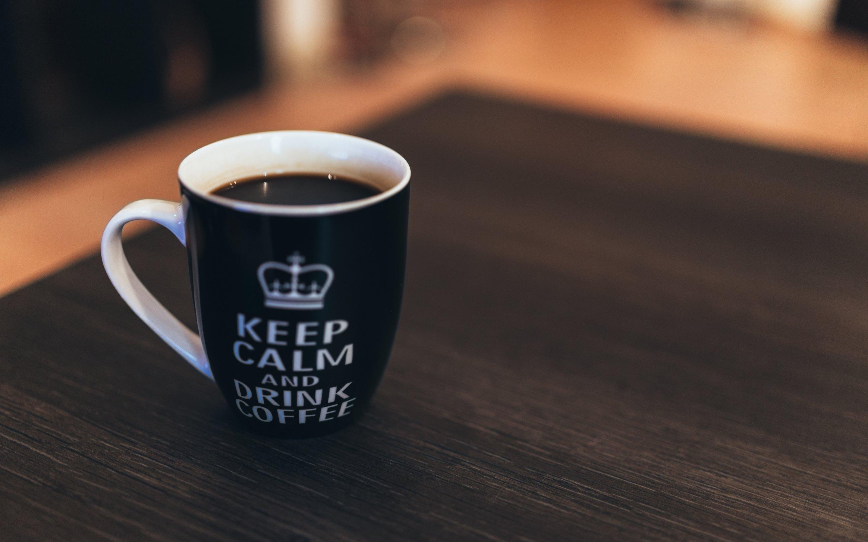 4K HD Wallpaper: Keep Calm and Drink Coffee