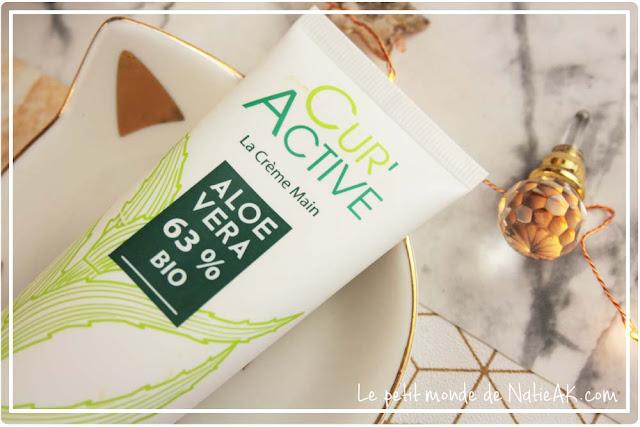 crème pour les mains sèches Cur'Active aloe vera bio d' Akeo